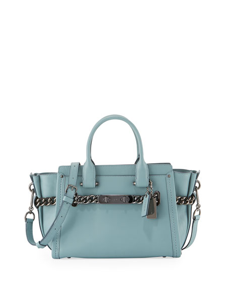 Coach Swagger 27 Leather Satchel Bag, Cloud