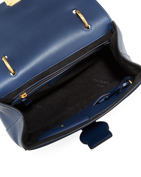 Trench Large Saffiano Top Handle Bag, Blue