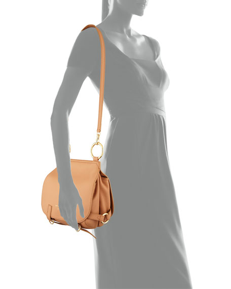 Bridle Small Soft Satchel Bag, Light Orange
