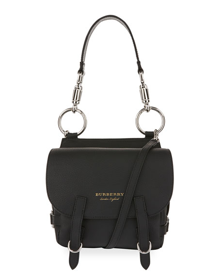 Burberry Bridle Medium Satchel Bag, Black