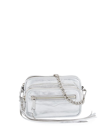 Rebecca Minkoff Solstice Metallic Leather Camera Bag