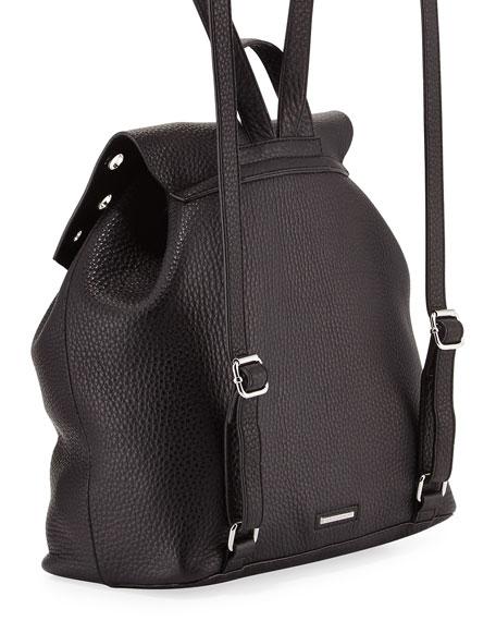 Darren Pebbled Grommet-Trim Backpack