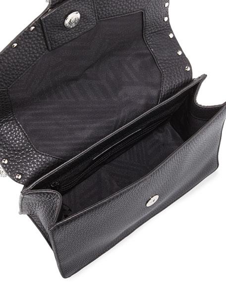 Medium Biker Crossbody Bag, Black