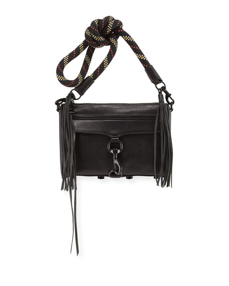 Rebecca Minkoff MAC Mini Climbing Rope Handbag, Black