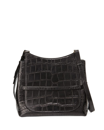 Sideby Alligator Satchel Bag