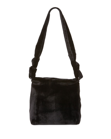 Wander Small Mink Fur Bag Black