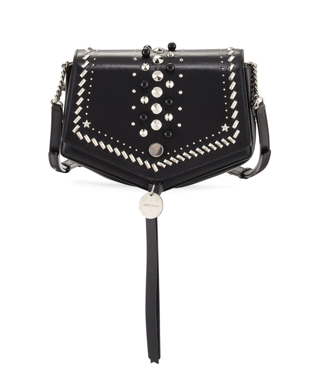 43083afddbe3 Jimmy Choo Arrow Embellished Leather Crossbody Bag