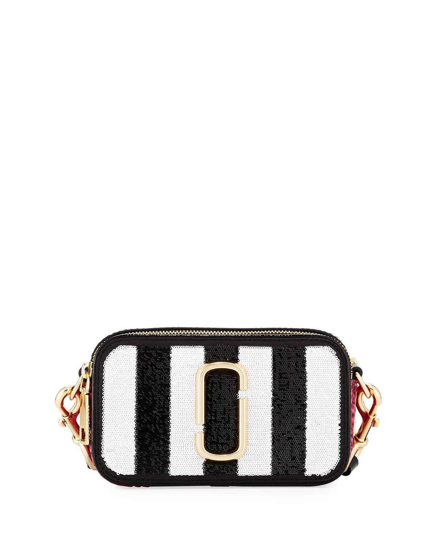 5acaa3f7f003 Marc Jacobs Sequin Stripes Snapshot Crossbody Bag