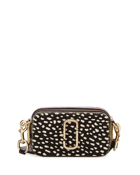Marc Jacobs Wavy Spot Snapshot Crossbody Bag, Black/Multi