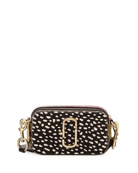 Marc Jacobs Wavy Spot Snapshot Crossbody Bag, Black/Multi