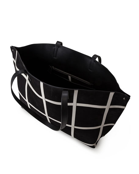 Ai Medium Plaid Reversible Shoulder Bag