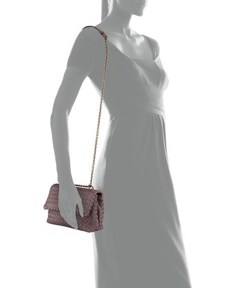 Baby Olimpia Intrecciato Leather Shoulder Bag