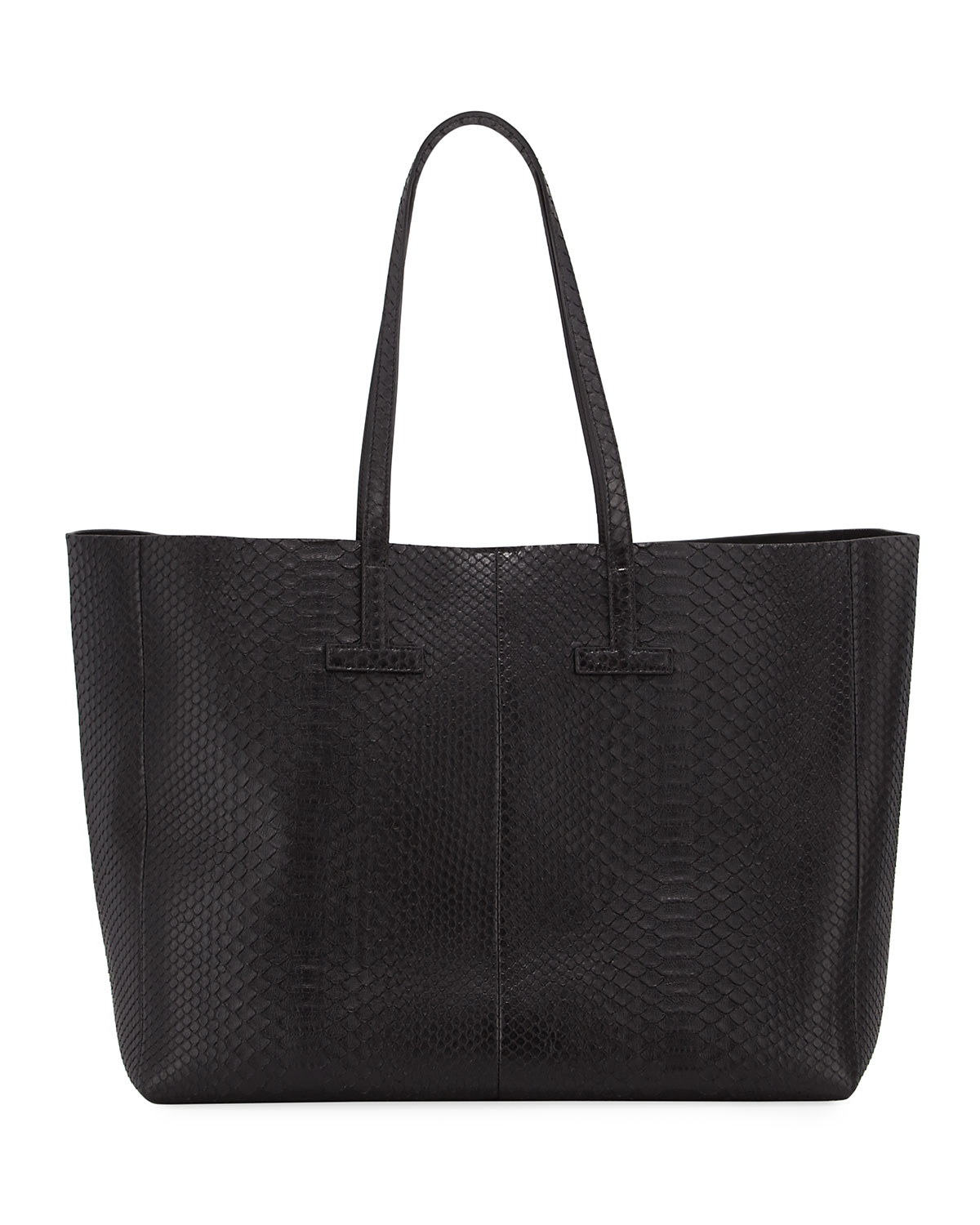 7f10032d8b3 TOM FORD Large Python T Tote Bag, Black   Neiman Marcus
