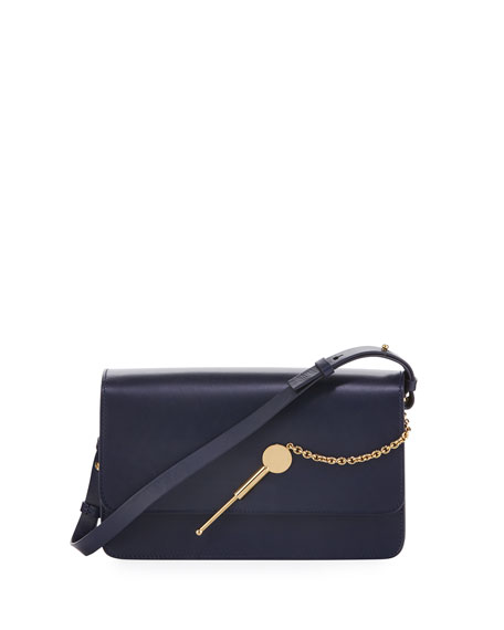 MEDIUM COCKTAIL STIRRER SHOULDER BAG, NAVY