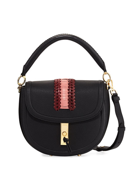 Altuzarra Ghianda Pebbled Stitched Top-Handle Saddle Bag
