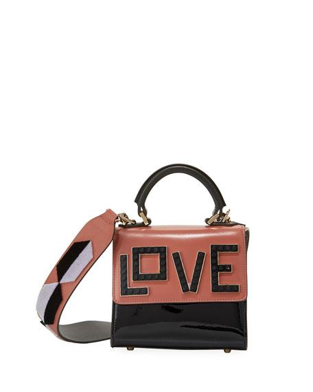 Micro Alex Black Widow Frame Bag, Pink/Multi