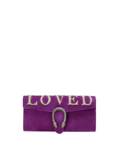 Dionysus Small Loved Suede Clutch Bag