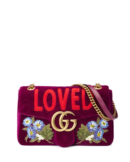 Gucci GG Marmont Small Loved Shoulder Bag, Fuchsia