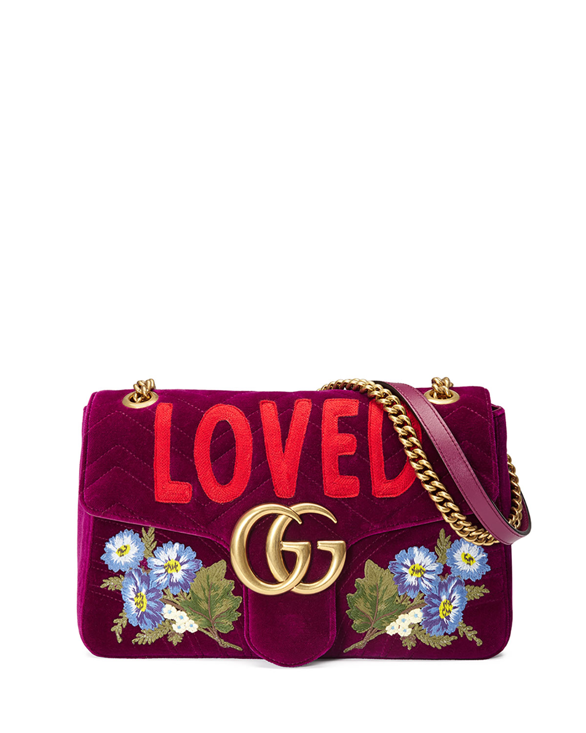 3dba5d8842ba Gucci GG Marmont Small Loved Shoulder Bag, Fuchsia | Neiman Marcus