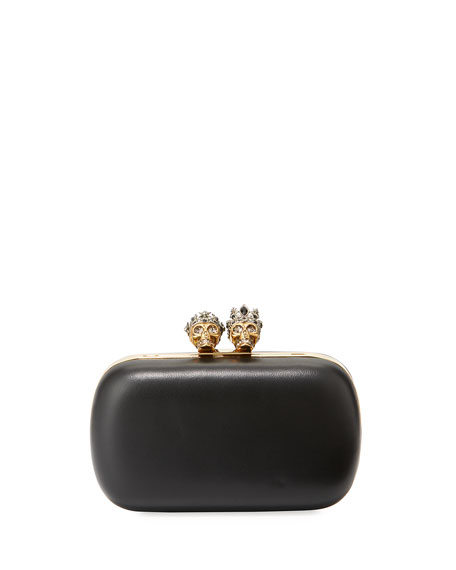 Alexander McQueen Queen & King Skull Leather Box