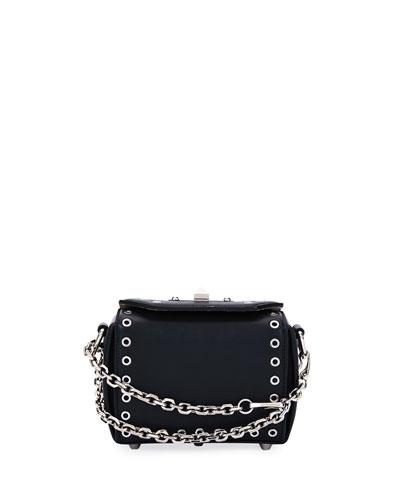 Box Bag 16 Sweet Leather Satchel Bag, Black
