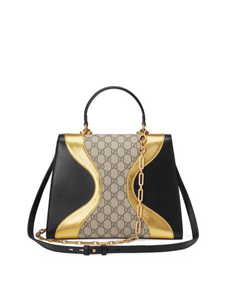 Osiride Medium GG Supreme & Leather Top-Handle Bag