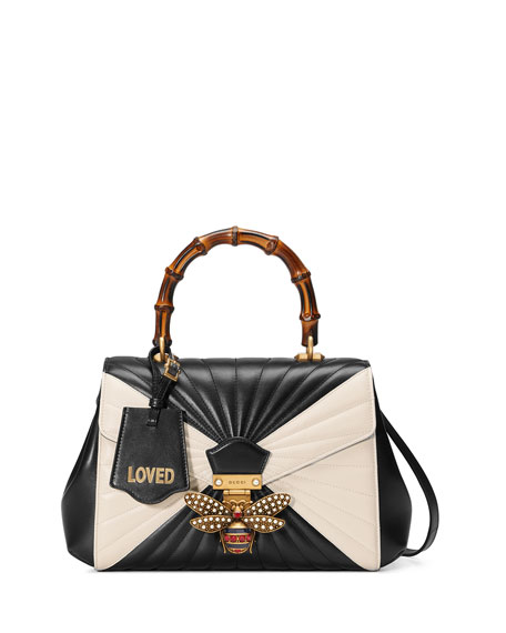 Gucci Queen Margaret Medium Quilted Leather Top-Handle Bag,