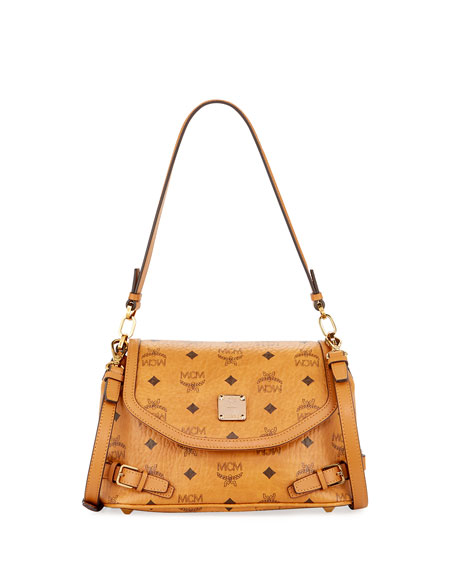 MCM Signature Visetos Small Crossbody Bag
