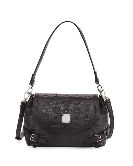 MCM Monogrammed Debossed Small Crossbody Bag
