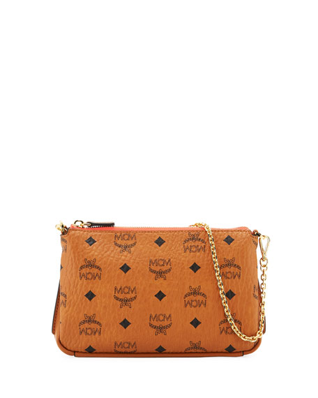 MCM Millie Visetos Medium Chain Crossbody Bag