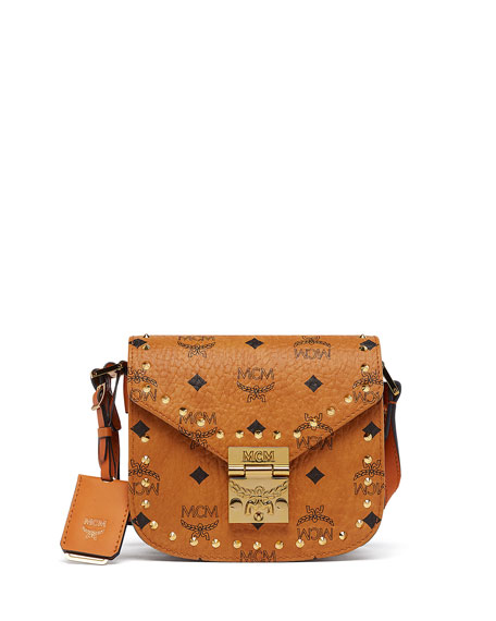MCM Patricia Studded Outline Shoulder Bag
