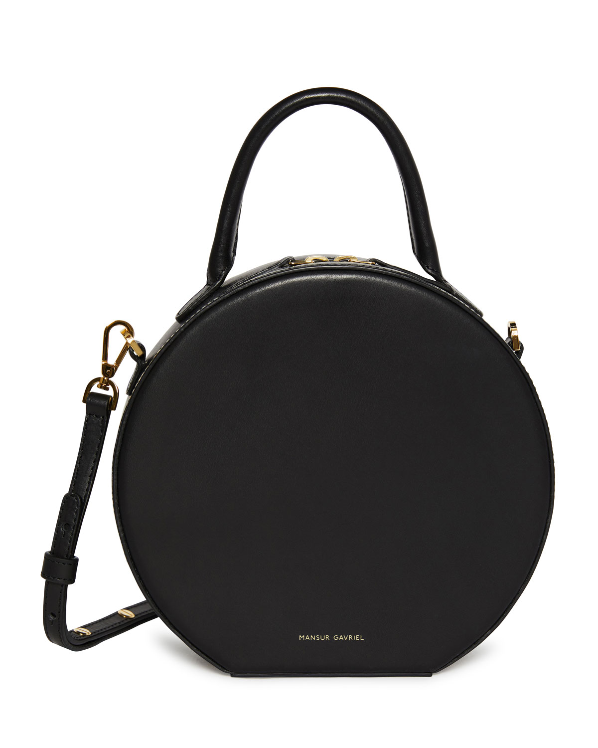 bfc7121e089b Mansur Gavriel Circle Vegetable-Tanned Leather Crossbody Bag ...