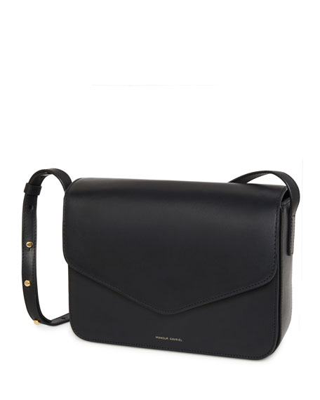 Vegetable-Tanned Leather Envelope Crossbody Bag
