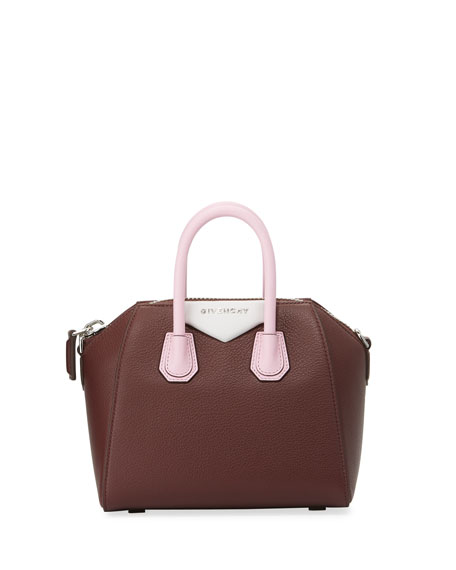 Givenchy Antigona Tricolor Mini Satchel Bag, Pink
