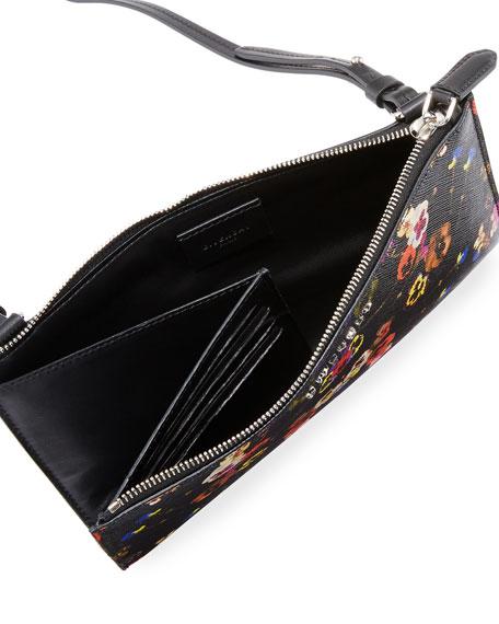 Antigona Pansies Crossbody Pouch Bag