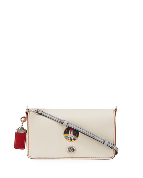 Coach 1941 Dinky Rocket Embossed Crossbody Bag, White
