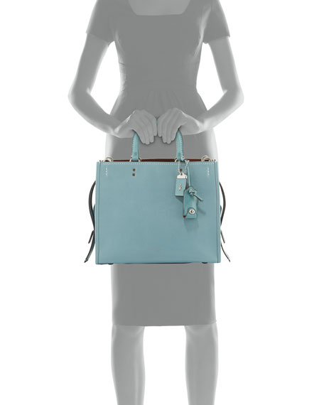 Rogue Glove-Tanned Pebbled Bag, Blue