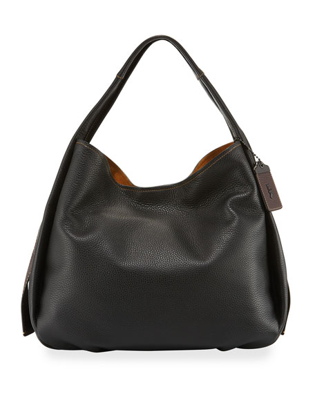 Coach 1941 Pebbled Leather Hobo Bag, Black
