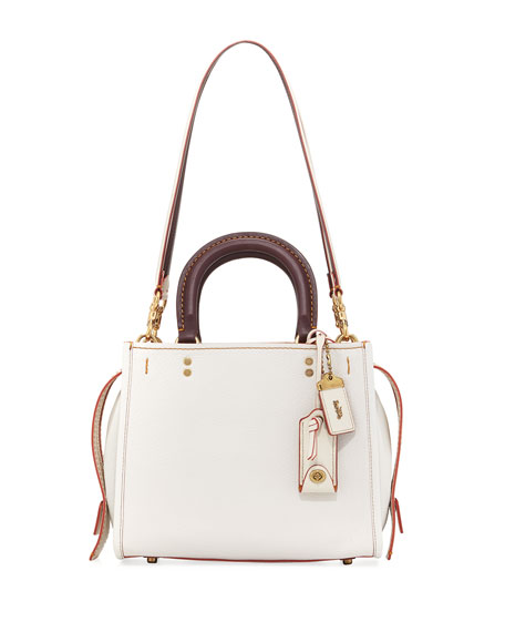 Coach 1941 Rogue 25 Two-Tone Leather Shoulder Bag,