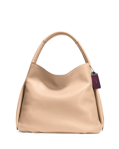 Coach 1941 Pebbled Leather Hobo Bag, Tan