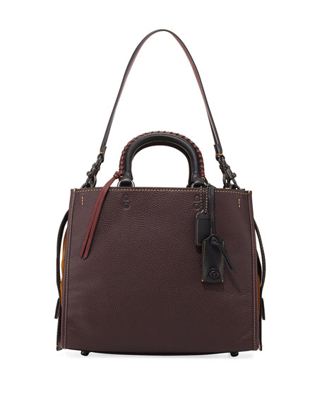 Coach 1941 Rogue Pebbled Leather Bag with Whipstitched