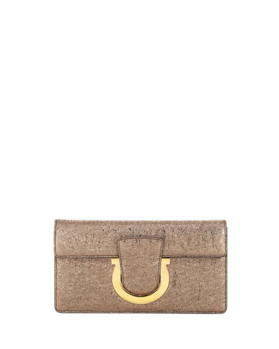 Thalia Small Metallic Clutch Bag