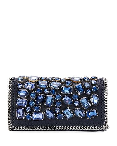 Falabella Crystal-Embellished Clutch Bag