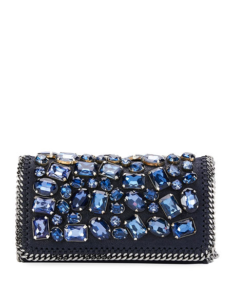 Falabella Crystal-Embellished Clutch Bag
