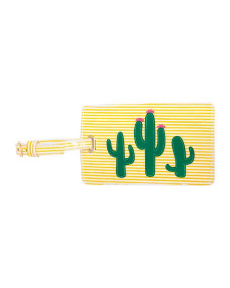 Lolo Bags Cacti Luggage Tag, Yellow/Multi