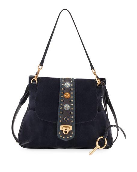 Chloe Lexa Medium Shoulder Bag, Blue