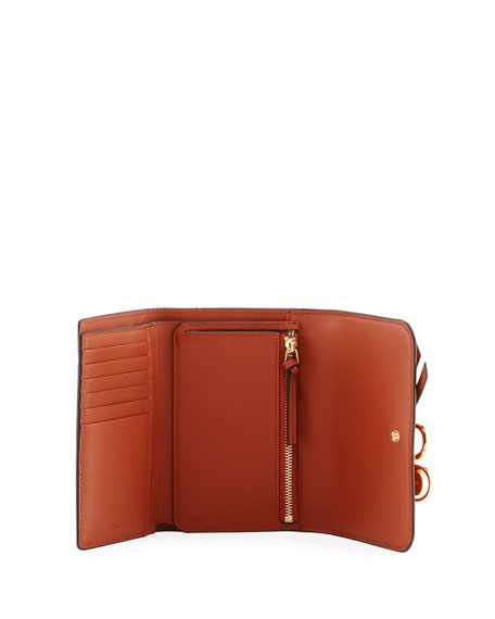 Alphabet Smooth Leather Compact Wallet