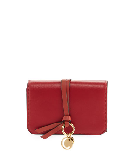 Chloe Alphabet Smooth Leather Compact Wallet