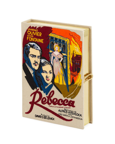 Rebecca Movie Poster Clutch Bag, Beige