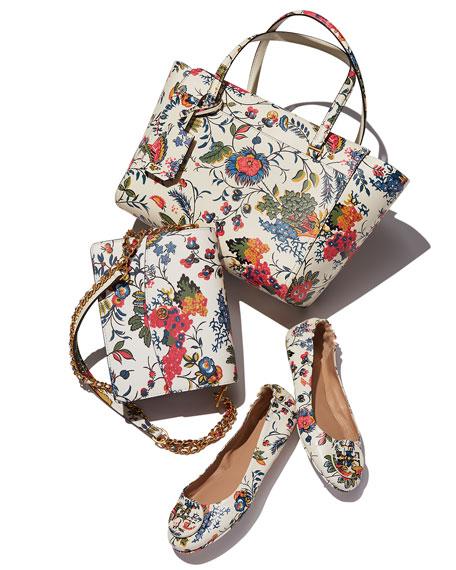 Tory Burch Parker Floral Convertible Shoulder Bag, Gabriella Floral |  Neiman Marcus